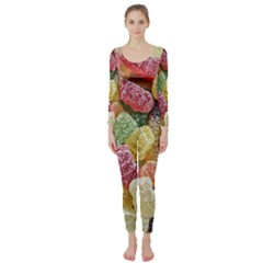 Jelly Beans Candy Sour Sweet Long Sleeve Catsuit