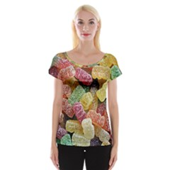 Jelly Beans Candy Sour Sweet Women s Cap Sleeve Top