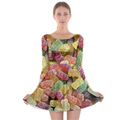 Jelly Beans Candy Sour Sweet Long Sleeve Skater Dress
