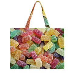 Jelly Beans Candy Sour Sweet Zipper Large Tote Bag