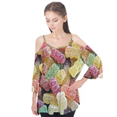 Jelly Beans Candy Sour Sweet Flutter Tees
