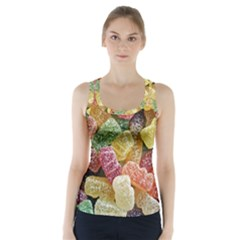 Jelly Beans Candy Sour Sweet Racer Back Sports Top