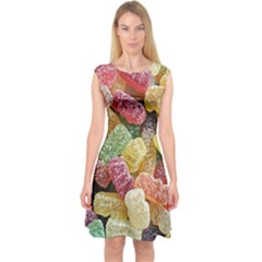 Jelly Beans Candy Sour Sweet Capsleeve Midi Dress