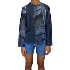 Graphic Design Background Kids  Long Sleeve Swimwear