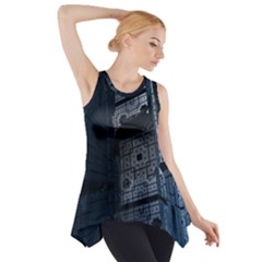 Graphic Design Background Side Drop Tank Tunic