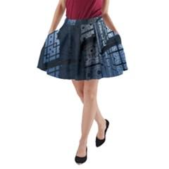 Graphic Design Background A Line Pocket Skirt