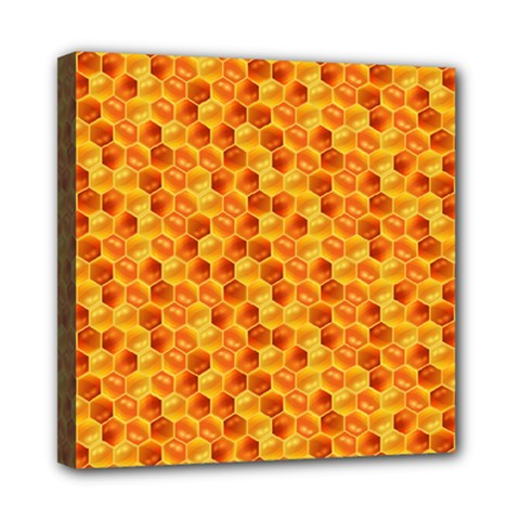 Honeycomb Pattern Honey Background Mini Canvas 8  X 8