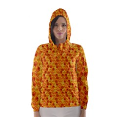 Honeycomb Pattern Honey Background Hooded Wind Breaker (women)