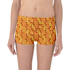 Honeycomb Pattern Honey Background Reversible Boyleg Bikini Bottoms