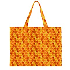 Honeycomb Pattern Honey Background Large Tote Bag