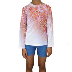 Effect Isolated Graphic Kids  Long Sleeve Swimwear