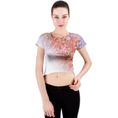 Effect Isolated Graphic Crew Neck Crop Top