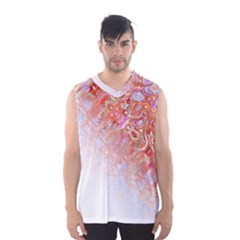 Effect Isolated Graphic Men s Basketball Tank Top