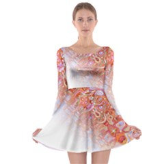 Effect Isolated Graphic Long Sleeve Skater Dress