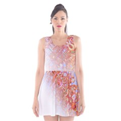 Effect Isolated Graphic Scoop Neck Skater Dress