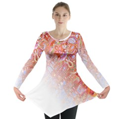 Effect Isolated Graphic Long Sleeve Tunic