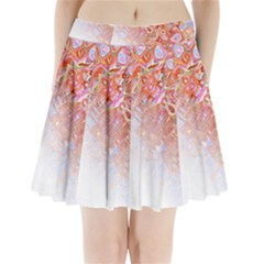 Effect Isolated Graphic Pleated Mini Skirt