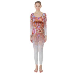 Effect Isolated Graphic Long Sleeve Catsuit