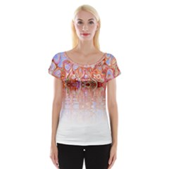 Effect Isolated Graphic Women s Cap Sleeve Top