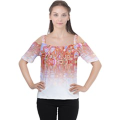 Effect Isolated Graphic Women s Cutout Shoulder Tee