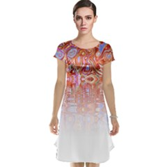 Effect Isolated Graphic Cap Sleeve Nightdress