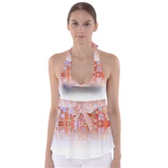 Effect Isolated Graphic Babydoll Tankini Top