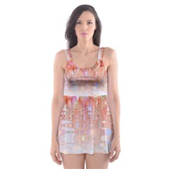 Effect Isolated Graphic Skater Dress Swimsuit
