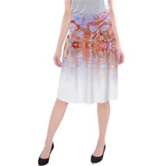 Effect Isolated Graphic Midi Beach Skirt