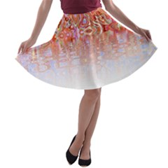 Effect Isolated Graphic A Line Skater Skirt