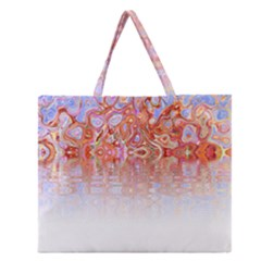 Effect Isolated Graphic Zipper Large Tote Bag
