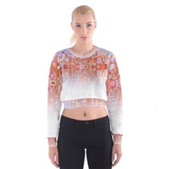 Effect Isolated Graphic Cropped Sweatshirt