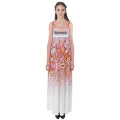 Effect Isolated Graphic Empire Waist Maxi Dress