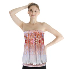 Effect Isolated Graphic Strapless Top