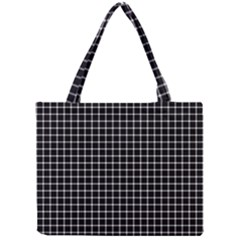 Black and white optical illusion dots and lines Mini Tote Bag