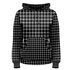 Black and white optical illusion dots and lines Women s Pullover Hoodie