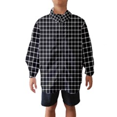 Black And White Optical Illusion Dots And Lines Wind Breaker (kids)