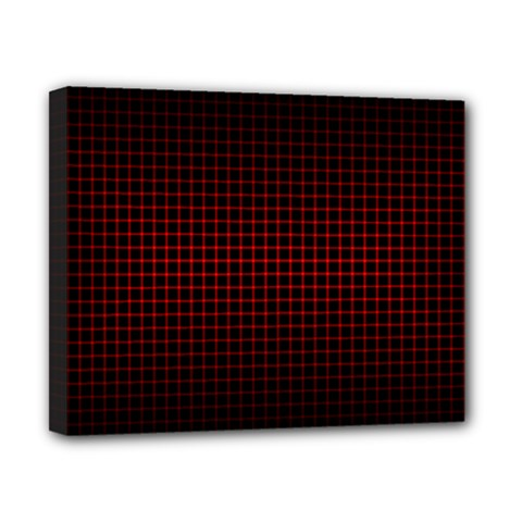 Optical Illusion Grid in Black and Red Canvas 10  x 8