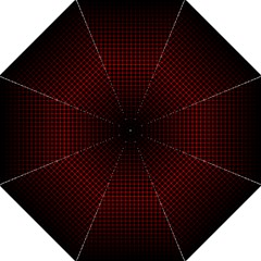 Optical Illusion Grid in Black and Red Folding Umbrellas