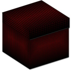 Optical Illusion Grid in Black and Red Storage Stool 12