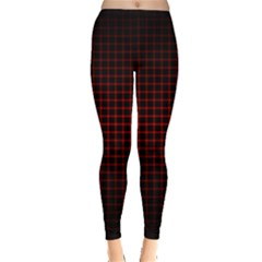 Optical Illusion Grid in Black and Red Leggings