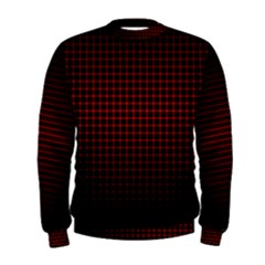 Optical Illusion Grid in Black and Red Men s Sweatshirt