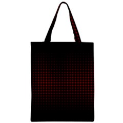 Optical Illusion Grid in Black and Red Zipper Classic Tote Bag