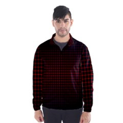 Optical Illusion Grid in Black and Red Wind Breaker (Men)