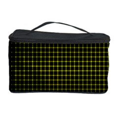 Optical Illusion Grid in Black and Yellow Cosmetic Storage Case