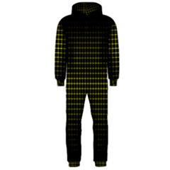 Optical Illusion Grid in Black and Yellow Hooded Jumpsuit (Men)