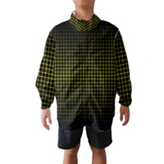 Optical Illusion Grid in Black and Yellow Wind Breaker (Kids)