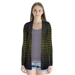 Optical Illusion Grid in Black and Yellow Cardigans