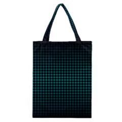 Optical Illusion Grid in Black and Neon Green Classic Tote Bag