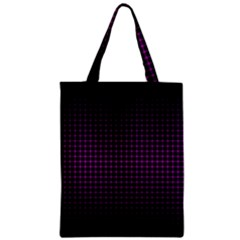 Optical Illusion Grid in Black and Neon Pink Zipper Classic Tote Bag