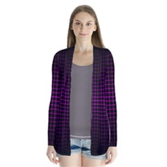 Optical Illusion Grid in Black and Neon Pink Cardigans